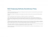 Employing Authority Discretions