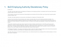 Statement of Policy on Discretions – Employer